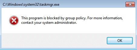 This Program Is Blocked by Group Policy [SOLVED]