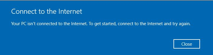 Your PC Isn't Connected to the Internet Error [SOLVED]
