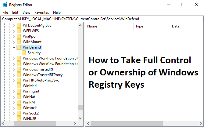 How to Take Full Control or Ownership of Windows Registry Keys